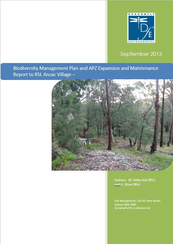 Biodiversity Mgt Plan RSL Life Care