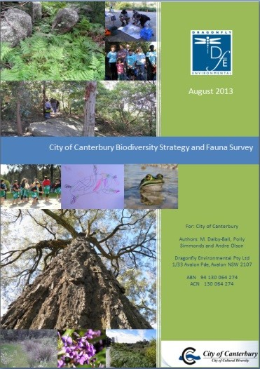 City of Canterbury Fauna Survey and Biodiversity Strategy